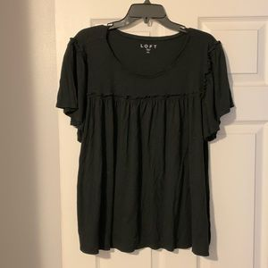Cute shirt sleeve top with a lot of detail!